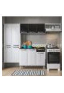 Cozinha Compacta Rose Ii 10 Pt 1 Gv Branca E Preta