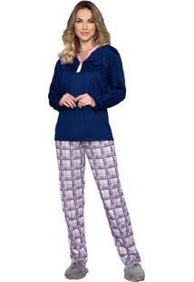 Pijama Vincullus Inverno Azul Marinho