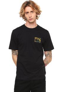 Camiseta Quiksilver Logo Preta