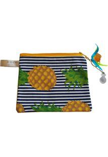 Necessaire Ania Store Pineapple P Amarelo