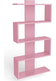 Estante Para Livros 4 Prateleiras Am 3087 Rosa - Móvel Bento