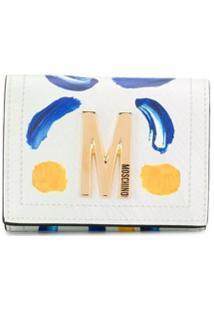 Moschino Carteira Com Placa De Logo - Branco