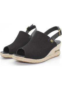 Sandalia Barth Shoes Perola Preto