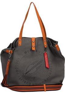 Bolsa Mormaii Shopping Bag Lona Feminina - Feminino-Cinza