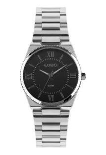 Relógio Euro Feminino New Basic Prata