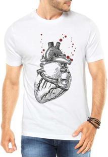 Camiseta Criativa Urbana Coração Realista - Masculino