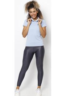Polo Lisa Com Fps 50+®- Azul Claro & Azul Marinho- Ffila