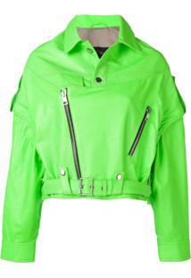 Manokhi Vintage Style Oversized Jacket - Verde