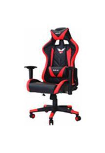 Cadeira Gamer Pro Eaglex Giratoria Reclinavel Ajuste De Altura - Vermelha