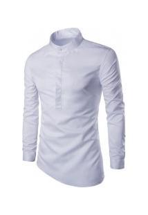 Camisa Masculina Manga Longa Y506 - Branca