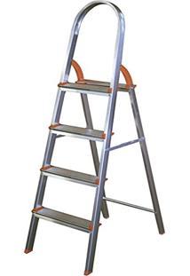 Escada Doméstica Em Alumínio 5 Degraus 97Cm - Ágata
