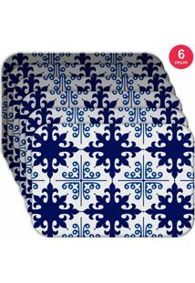 Jogo Americano Love Decor Wevans Ladrilho Blue Kit Com 6 Pçs