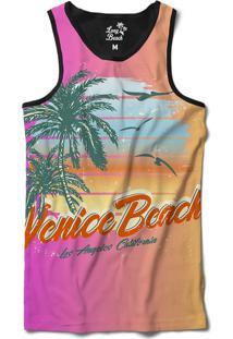 2c8b522fa Camiseta Regata Long Beach Praia De Venice Sublimada Roxo
