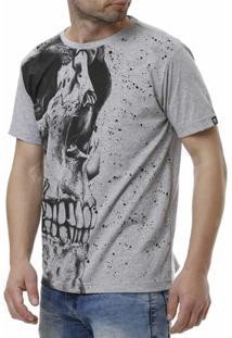 Camiseta Gangster Manga Curta Masculina - Masculino