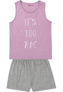 Pijama Curto Feminino Com Estampa