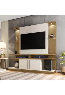 Estante Home Móveis Bechara York Led Tv 60 Pol Cinamomo E Off White