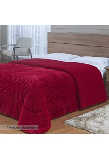 Edredom Toscana Solteiro King- Vermelho- 180X220Cm