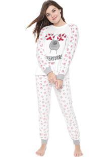 Pijama Any Any Não Perturbe Branco