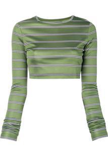 Marc Jacobs Suéter Cropped Com Mangas Longas - Verde