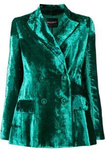 Erika Cavallini Blazer Com Botões Duplos - Verde