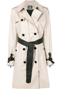 Farfetch. Karl Lagerfeld Trench Coat  Ikonik  - Nude   Neutrals 09ef536511a