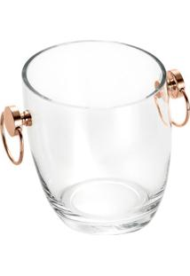 Balde Com Alã§A Asti- Incolor & Ros㪠Gold- 21Xã˜19Cm