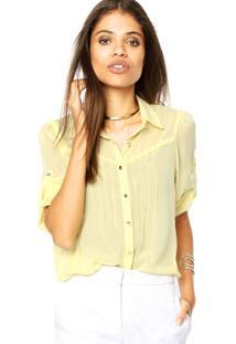 Camisa Mooncity Pregas Amarela