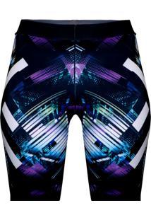Bermuda Galaxy Purple Spartanus Fightwear - Roxo - Feminino - Dafiti