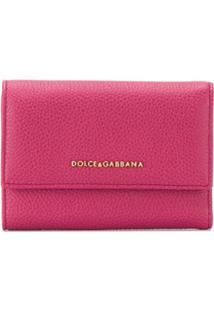Dolce & Gabbana Carteira Com Placa De Logo - Rosa