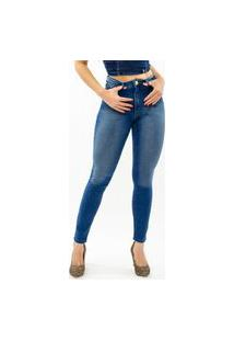 Calça Jeans Feminina Cintura Alta Hot Pa
