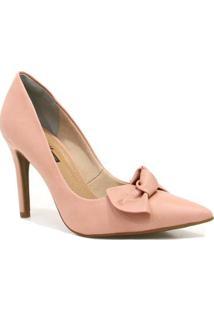 Scarpin Zariff Shoes Laço Feminino - Feminino-Rosa