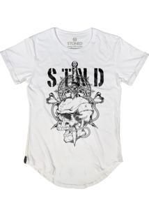 Camiseta Stoned Manga Curta Sword Skull Branco