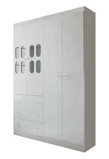 Armário Rodial Mimo Com 4 Portas E 3 Gavetas – Branco