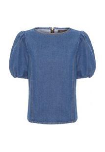 Camiseta Feminina Jeans Elonora - Azul