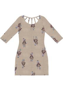 Vestido Malha Estampado Com Tiras Polo - Lez A Lez