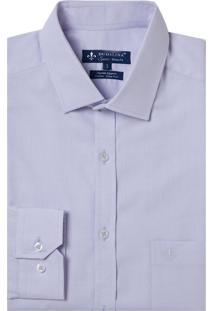 Camisa Dudalina Manga Longa Fio Tinto Maquinetada Masculina (Roxo Claro, 45)