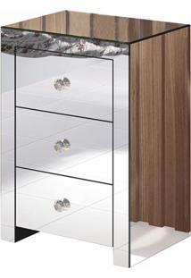 Mesa De Cabeceira Em Mdf Florença 65X45Cm Espelhado