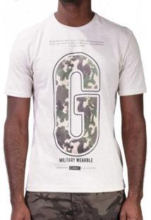 Camiseta Botonê Linho G Camuflado