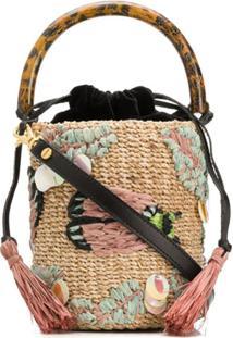 Aranáz Embroidered Bucket Bag - Neutro