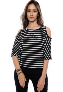Blusa Ombro Vazado Cibele B'Bonnie Listrada