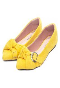 Sapatilha Torricella Camurça Amarelo