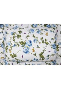 Fronha Estampada Percal 300 Fios - 100% Algodão - Home Collection - Appel - Floral Azul