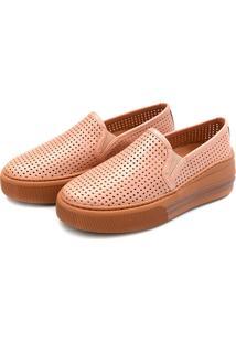 Slip On Flatform Perfuros Touro Boots Feminino Rosa - Kanui
