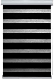 Persiana Rolo Blackout Em Poliéster Rainbow 160X140Cm Preta