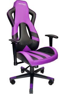 Cadeira Gamer Mx Eleven Roxa E Preta