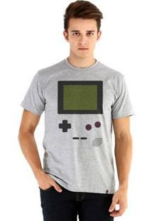 Camiseta Ouroboros Manga Curta Gamer Boy - Masculino-Cinza