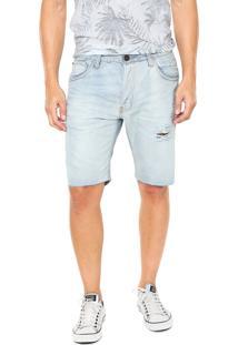 Bermuda Jeans John John Rasgos Azul