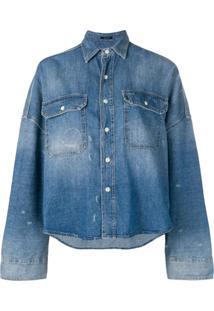 R13 Jaqueta Jeans Oversized - Azul