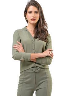 Camisa Mx Fashion Viscose Alissa Verde Militar