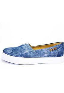 Tênis Slip On Quality Shoes Feminino 002 Jeans 40